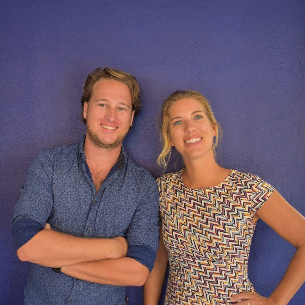 Peter van Dusseldorp & Eef de Bruin - owners SunRentals Bonaire